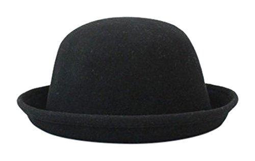 今だけスーパーセール限定 店舗 ボーラー帽 ボーラーハット レディース メンズ 黒 ブラック A86 帽子