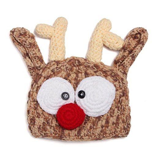 Ariely Chevaliers ベビー ニット帽 帽子 ハット クリスマス トナカイ 耳付き