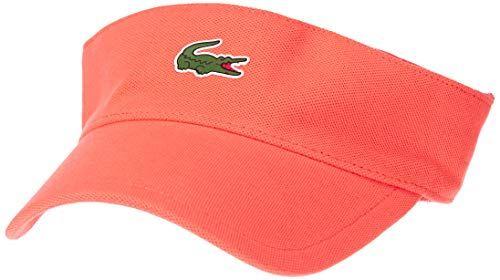 [ラコステ] CAP & HAT [公式] 鹿の子地ゴルフサンバイザー コーラル EU 000 (FREE サイズ)