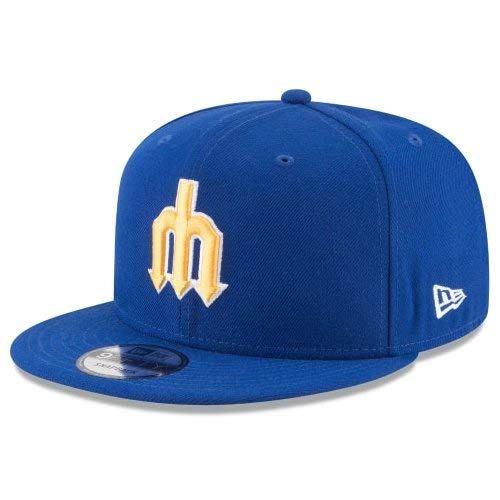NEW ERA (ニューエラ) MLBフラットバイザー/スナップバックキャップ (9FIFTY 950 CAP) シアトル・マリナーズ ※クーパーズタウンバージョン