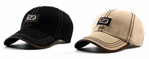 Jinden-pop バイク帽子 おしゃれ キャップ 2個セット ハーレー柄 男女兼用 調節可
