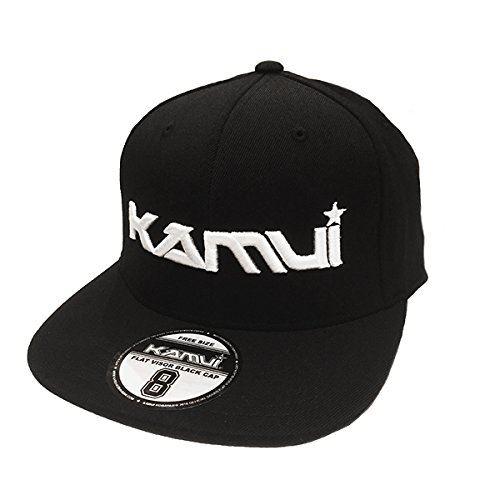 小林可夢偉オフィシャルグッズ フラットタイプ・キャップ/KAMUI 2016 OFFICIAL BLACK CAP・FLAT VISOR