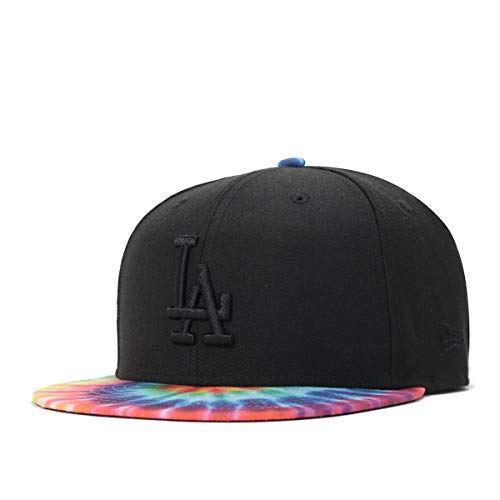 (ニューエラ) NEW ERA キャップ スナップバック 9FIFTY COLOR TIE DYE MLB ロサンゼルス ドジャース ブラック/タイダイプリント FREE (サイズ調整可能)
