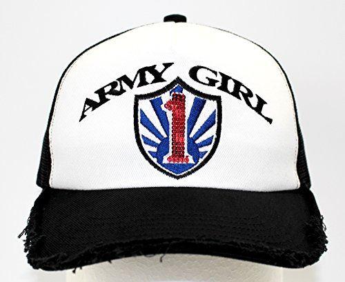 (アーミーガール) ARMY GIRL Spangle Cap Black/Blue/Red1 mesh type