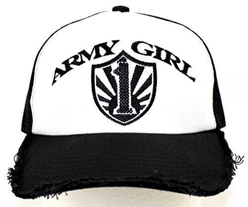 (アーミーガール)ARMY GIRL Spangle Cap Black/Black1 mesh type