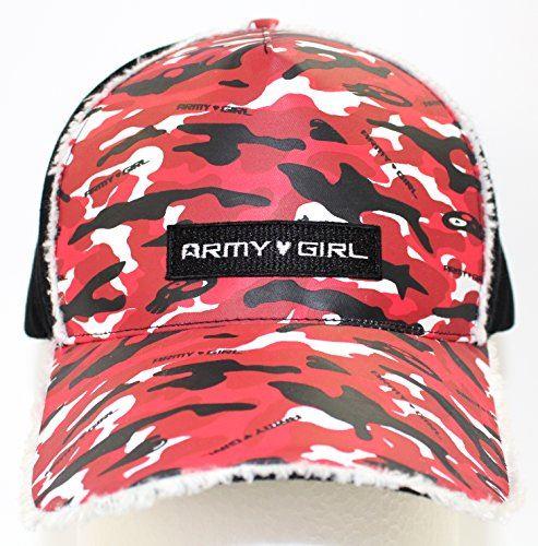 (アーミーガール)ARMY GIRL Camo Cap Red/Black