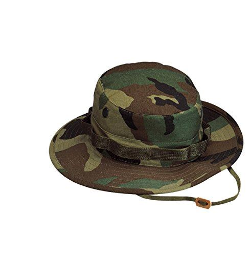 (ロスコ)Rothco 米軍 ブーニーハット Boonie Hat ウッドランドカモフラージュ XS