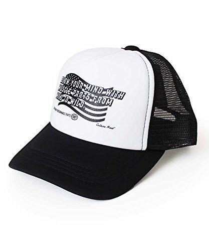 CULTURE MART KID'S MESH CAP PRINT / WHITE×BLACK (WILD) 101268-5