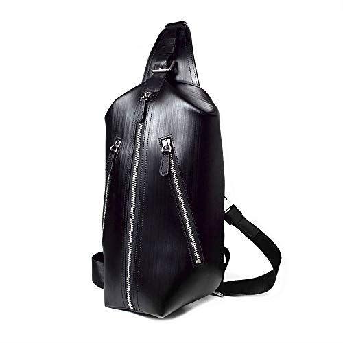 LANZA (ランザ) トリプル ボディバッグ ストリシアレザー [ ブラック ] イタリア製 鞄 専用BOX付属