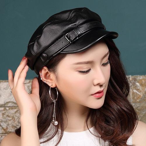 新品 レディース 帽子 本革 羊皮 大人気 568719064582