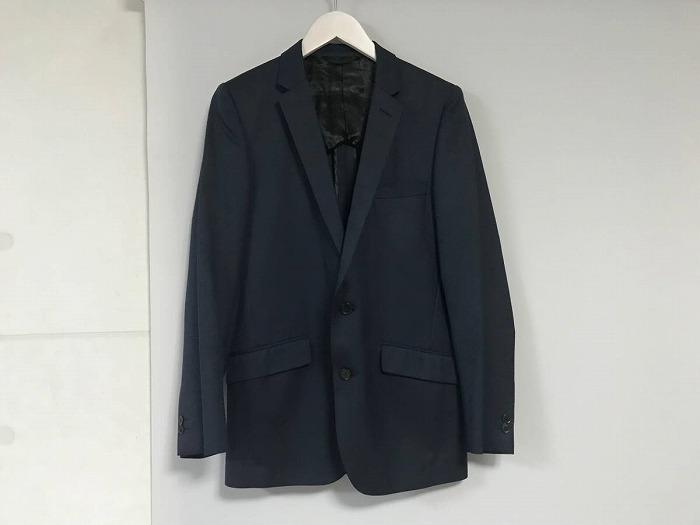 【中古】美品本物ユナイテッドアローズホワイトレーベルUNITEDARROWSウールシルク2Bテーラードジャケットスーツメンズ紺ネイビー2Lビジネス日本製