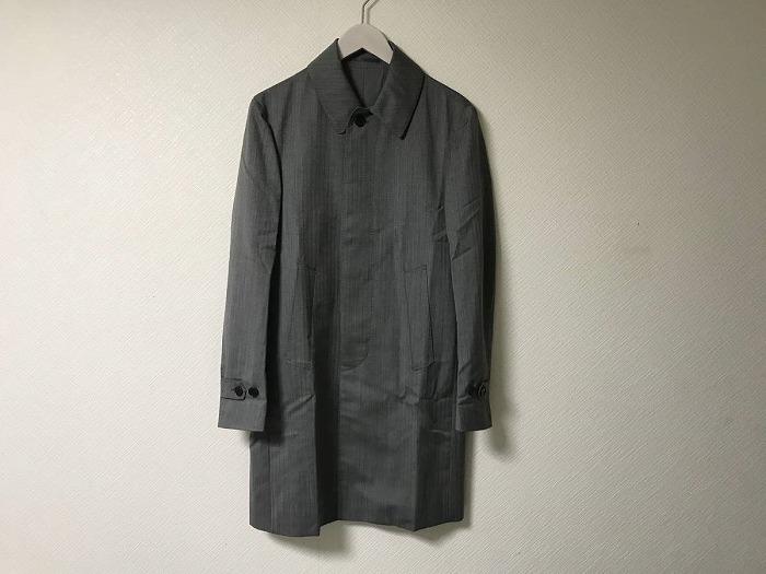 【中古】極美品本物エディフィスEDIFICEウールジャケットコートビジネスグレーメンズ旅行トラベル44SスーツJKTビジネス日本製