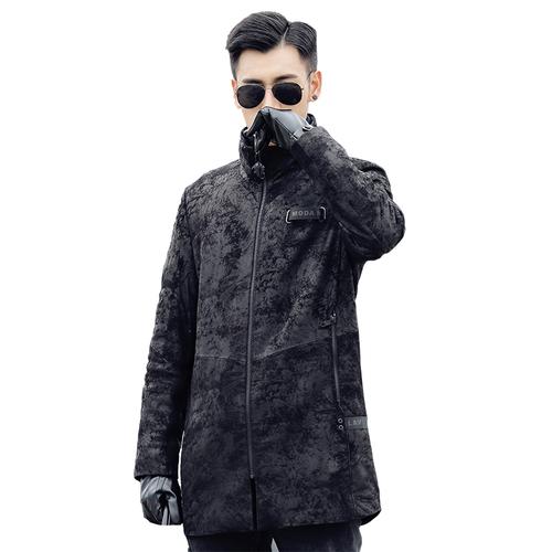 新品 山羊皮ゴートレザージャケット 新品セレブレザー本革レザージャケットJKT大きいサイズビッグビックメンズBIGミリタリアメカジビジネスバイカータイト 大人気 575760567963