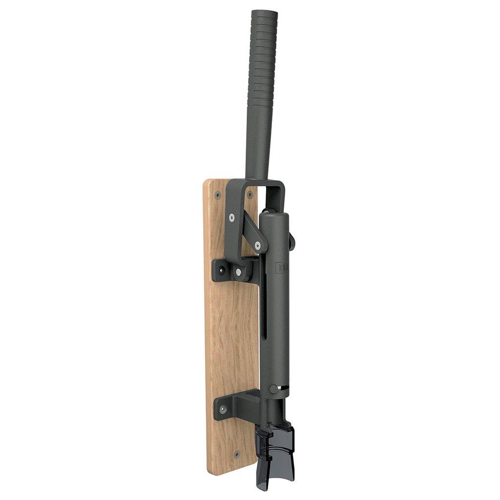 【BOJ】 Wall-mounted corkscrew(壁掛け式ワインオープナー) 黒(ナチュラル木板台付)Mod.110 コルク抜き Maison Pou