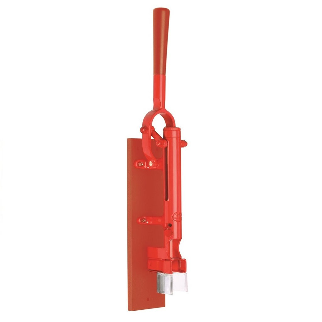 【BOJ】 Wall-mounted corkscrew(壁掛け式ワインオープナー) 赤(赤塗装木板台付) コルク抜き Maison Pou