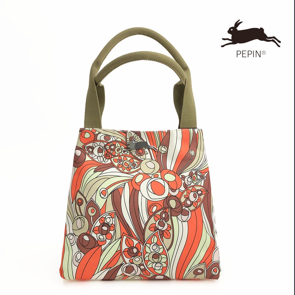 1960s 【PEPIN(ペピン)】 ART BAG バッグ アートバッグ オランダ ヨーロッパ おしゃれ トートバッグ キャンバス かわいい 2way 機能的 肩掛け A4が入る 大容量 マザーズバッグ 柄 丈夫 内ポケット デザイン Maison Pou