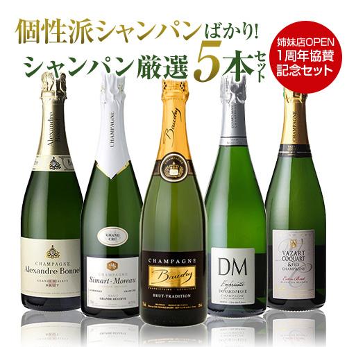 送料無料 特選シャンパン5本セット