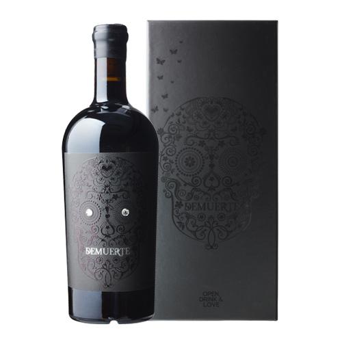 デムエルテ ブラック 750ml スペイン イエクラ 辛口 箱付き 髑髏 メキシカンスカル カラベラ ギフト  赤ワイン 虎