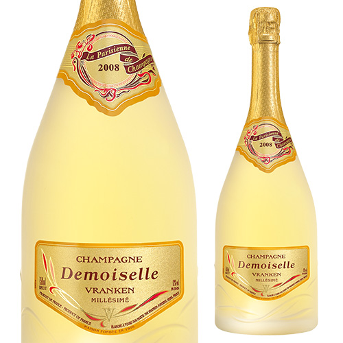 【誰でもワインP5倍 8/25限定】ドゥモアゼル ラ パリジェンヌ ミレジメ [2008] 750ml [正規品][数量限定][シャンパン][シャンパーニュ][ヴランケンポメリー][ミレジメ]