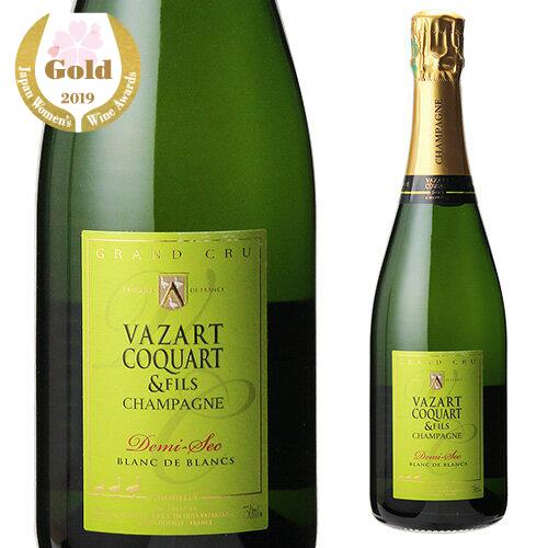 【誰でもP5倍 12/25限定】ヴァザール コカール ドゥミ セック ブラン ド ブラン 750ml シャンパーニュ シャンパン