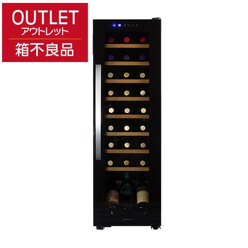デバイスタイル WE-C27Wアウトレット 箱不良 商品良品本体カラー:ブラック 27本ワインセラー 家庭用ワインセラー送料無料 deviceSTYLE コンプレッサー式 家庭用 コンパクト 加温機能付き N/B