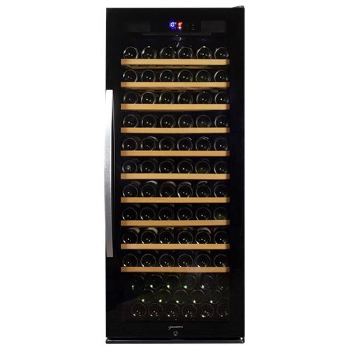グラス特典付きデバイスタイル WF-C127W本体カラー:ブラック 127本ワインセラー 家庭用ワインセラー送料無料 deviceSTYLE コンプレッサー式 家庭用 スリム