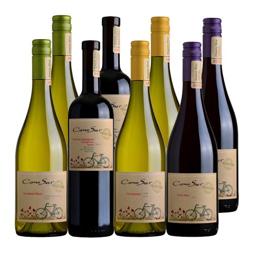 送料無料 1本当り1,021円コノスル オーガニック4シリーズ8本セットワインセット 自然派ワイン ヴァン ナチュール 自然派 ビオ BIO