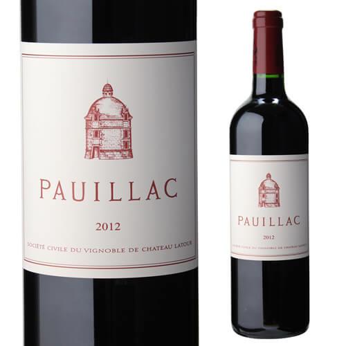 ポイヤック ド ラトゥール 2012格付 1級 ボルドー サード ワイン 赤ワイン