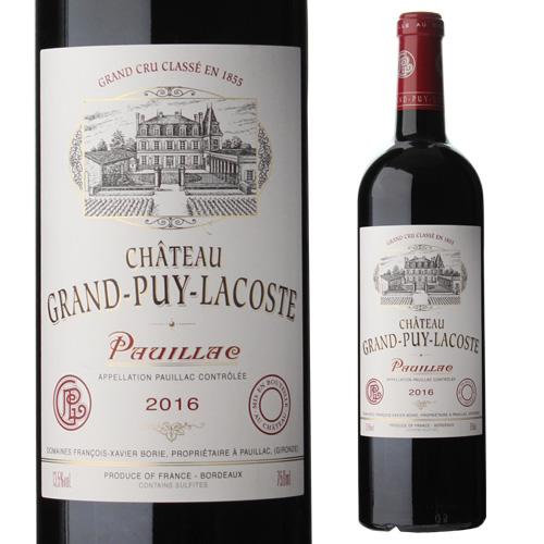 【誰でもワインP5倍 8/25限定】シャトー グラン ピュイ ラコスト 2016 750ml フランス ボルドー 格付5級 赤ワイン