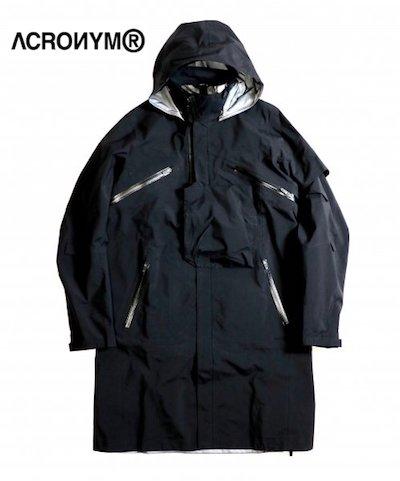 メンズ レディース アウター ゴアテックス ジャケット ブラック ACRONYM アクロニウム 低価格化 3L GORE 格安 価格でご提供いたします OUTER J1L-GT BLACK COAT TEX PRO Men's Ladies INTEROPS