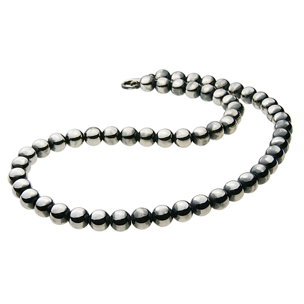 シルバーペンダント シルバーアクセサリー 極太 ボールチェーン ネックレス メンズ ネックレス トップ ヘッド パンクロック 数珠 8mm玉 ヘビーメタル ハードロック 8mmボール