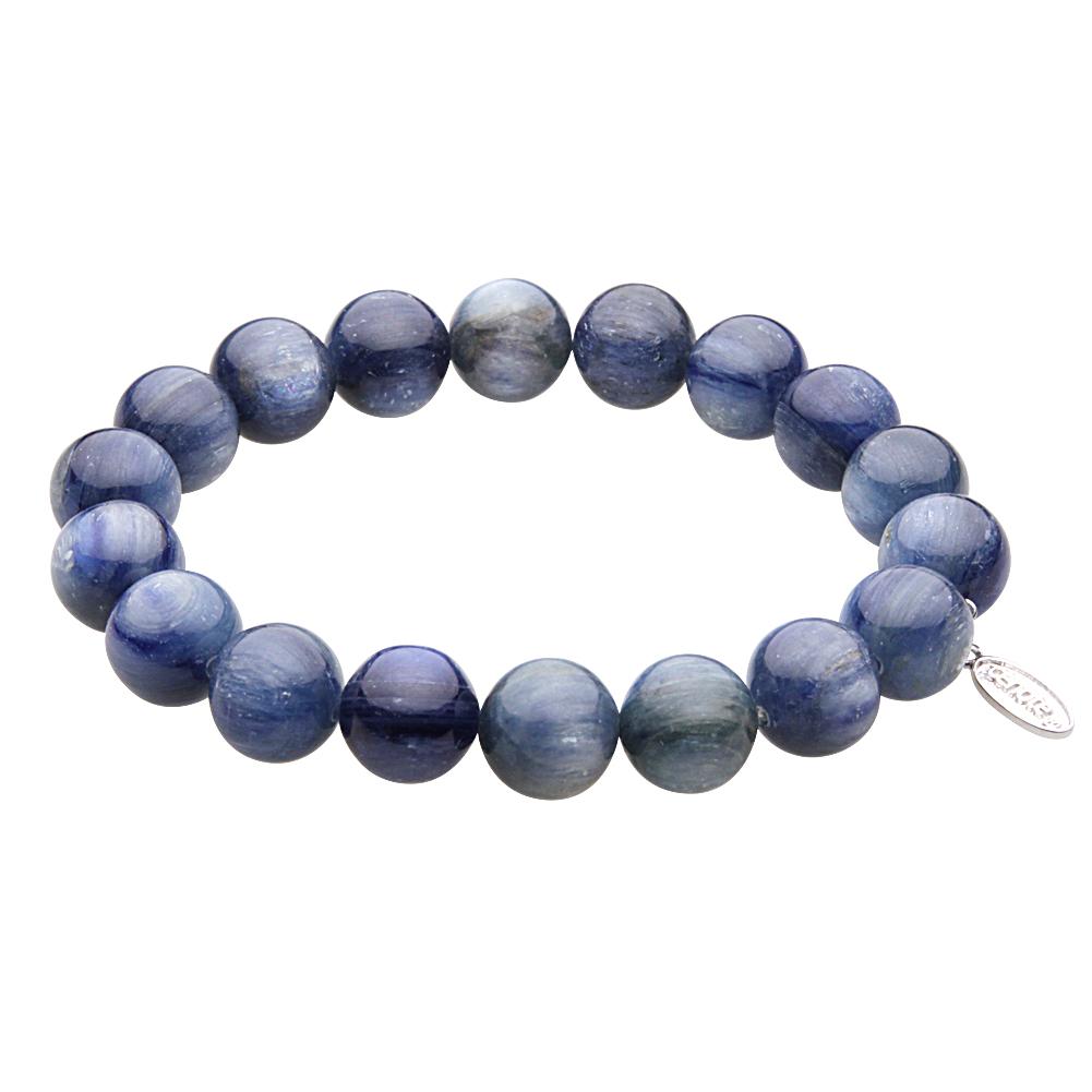 【カイヤナイト】10mm玉数珠ブレスレット パワーストーン 天然石アクセサリー【cenote t1039/送料無料】
