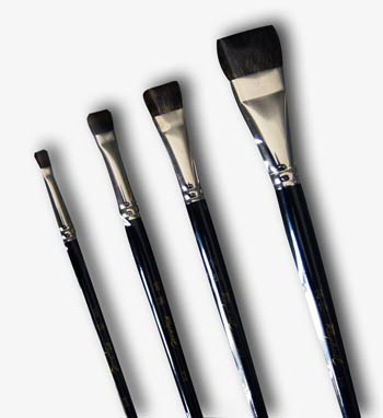 Raphael's finest Watercolor Brush 916 (Canada Le / flat brush type) No.24