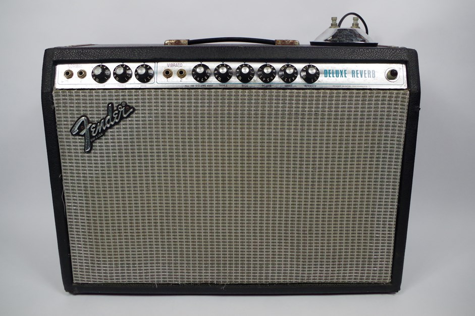 FENDER USA fender USA Deluxe Reverb Silver Panel guitar amplifier (combo)