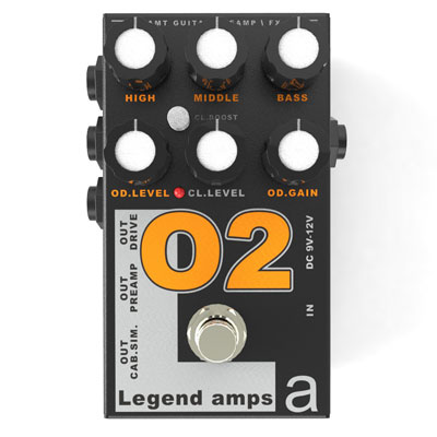 【送料無料】AMT Electronics《AMT エレクトロニクス》 O-2 [商品番号 : 6230] エフェクター(オーバードライブ) [O2]
