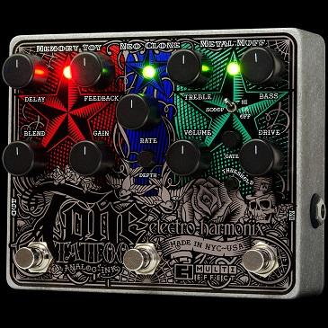 高質 【送料無料 multi-effects Tattoo】Electro-Harmonix エレクトロ・ハーモニックス Tone Tattoo エフェクター(マルチエフェクター) pedal/ analog multi-effects pedal, 名入れギフトプレゼント福来館:8d8629f0 --- wrapchic.in