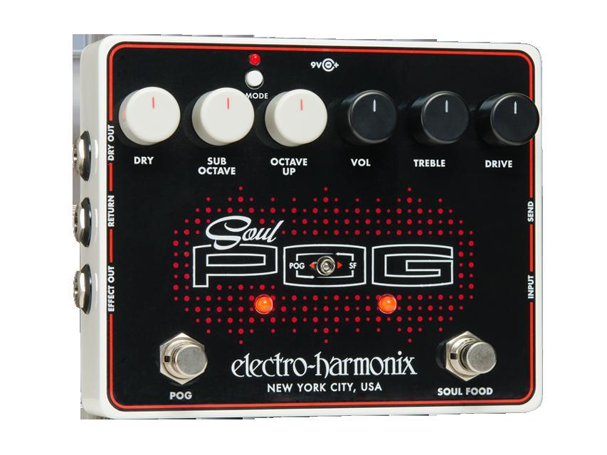 【送料無料】Electro-Harmonix エレクトロ・ハーモニクス Soul POG エフェクター(オーバードライブ+ポリフォニック・オクターブジェネレーター)/ Multi Effect: Nano POG + Soul Food