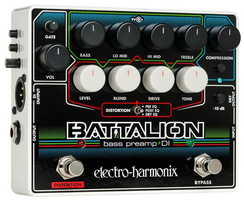 【送料無料】 Electro-Harmonix エレクトロ ハーモニックス Battalion ベース用エフェクター(プリアンプ DI)