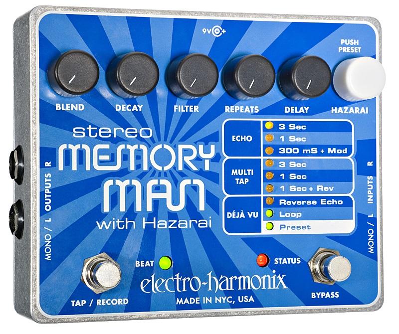 【送料無料】Electro-Harmonix エレクトロ・ハーモニックス Stereo Memory Man with Hazarai エフェクター(ディレイ)