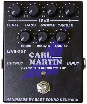 【送料無料】CARL MARTIN《カールマーチン》 3 BAND PARAMETRIC PREAMP エフェクター(プリアンプ)