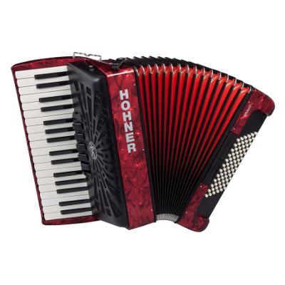 【送料無料】HOHNER 《ホーナー》 Bravo II 48 Red(赤) アコーディオン(ピアノキー)