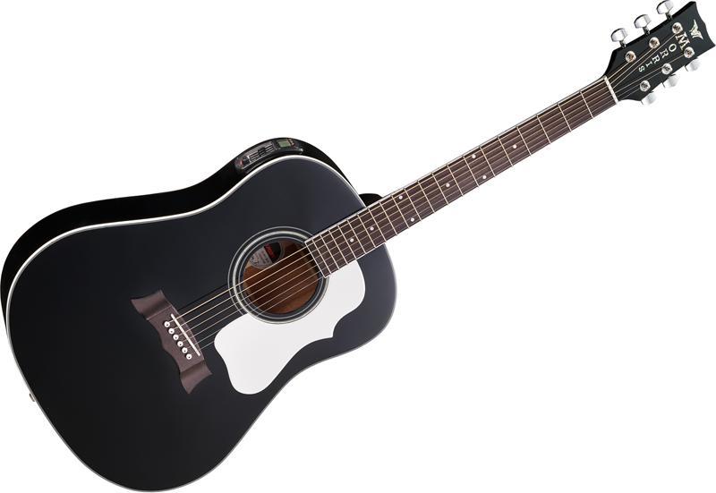 【送料無料】Morris モーリス G-401 BLK アコースティックギター[エレアコ]