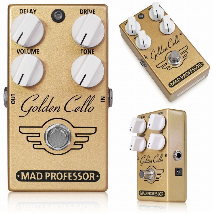 【送料無料】Mad Professor 《マッドプロフェッサー》 Golden Cello エフェクター(ディストーション+ディレイ)