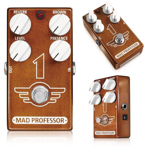 【送料無料】MAD PROFESSOR 《マッドプロフェッサー》 Newシリーズ 1 [One / ワン] エフェクター(ディストーション+リバーブ)