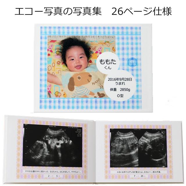 特価 在庫処分 エコー写真をアルバムにしよう エコー写真をハードカバー仕立ての写真集に エコー写真アルバム 26ページ仕様