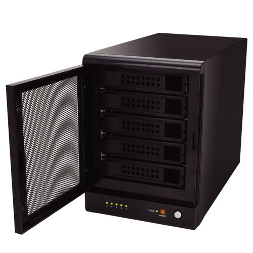 【化粧箱無し/破損・30日保証】《送料無料》ドライブドアSATAボックスUSB3.0 RAID 5BAY CENTURY/センチュリー/ハードディスクケース[EX35EU3R]