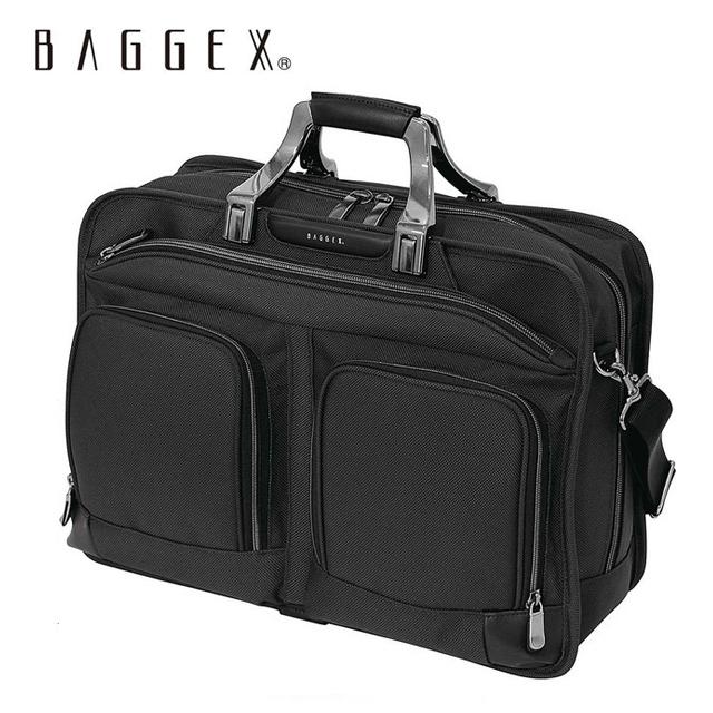 BAGGEX バジェックス トレジャービジネスバッグ 2way | メンズ バッグ ビジネス ブランド トートバッグ ショルダーバッグ 軽量 丈夫 シンプル PC タブレット ランキング おしゃれ 黒 ギフト ポケット多い 高機能(L)