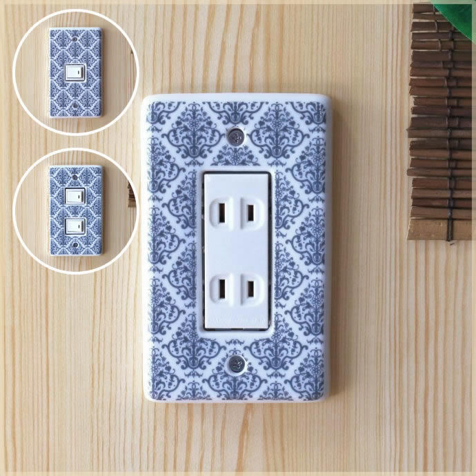 Cera Pockke Cute Pottery Shop A Simple Electrical Outlet Plate