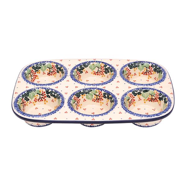セラミカ(ツェラミカ)【ジィカ】マフィン型|ポーリッシュポタリー(ポーランド陶器・ボレスワヴィエツ(ブンツラウ)陶器・北欧・Ceramika Artystyczna)|セラミカ専用ボックス入り|※包装のしメッセージカード無料対応