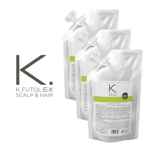 3本セット/ケフトルEX(kfutol)/アミノシャンプー詰替アルミパウチ500ml|セラピュア|育毛シャンプー、ノンシリコンシャンプー・アミノ酸系・フケ・低刺激性・スカルプケア・頭皮ケア|男女兼用